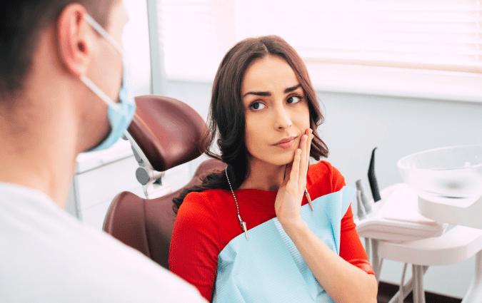 condizioni di una paziente dopo un trattamento di endodonzia